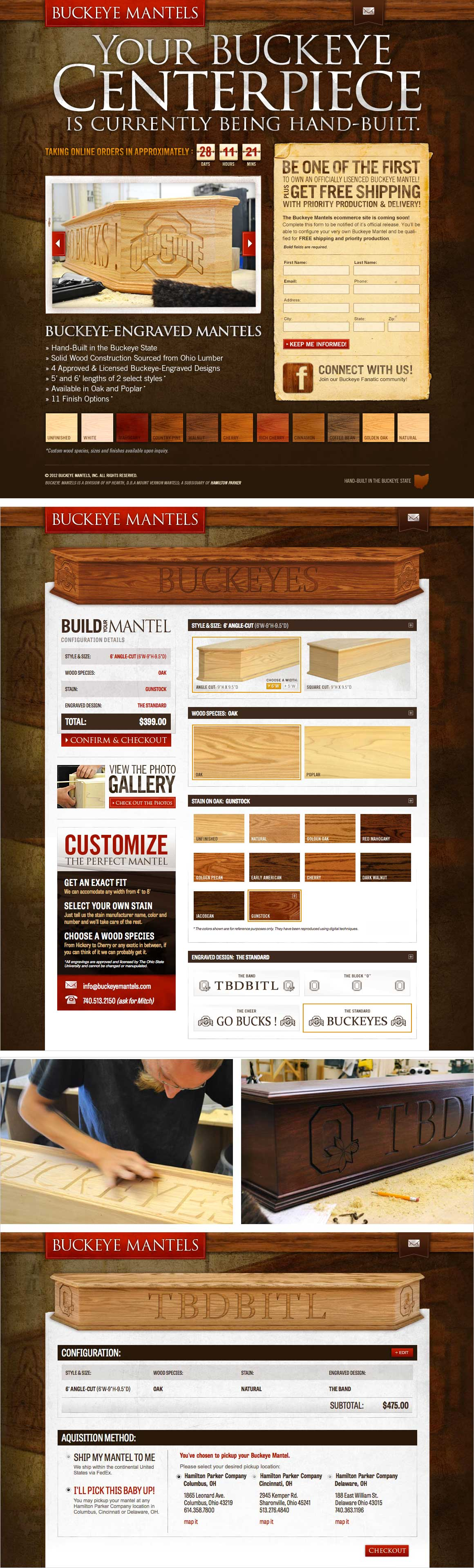 Buckeye Mantels Website Design