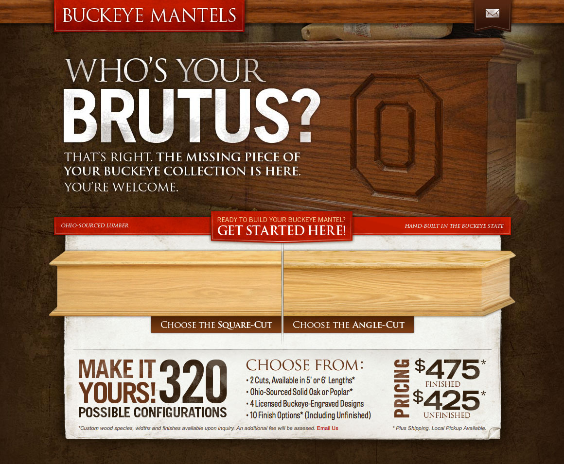 Buckeye Mantels Website Intro
